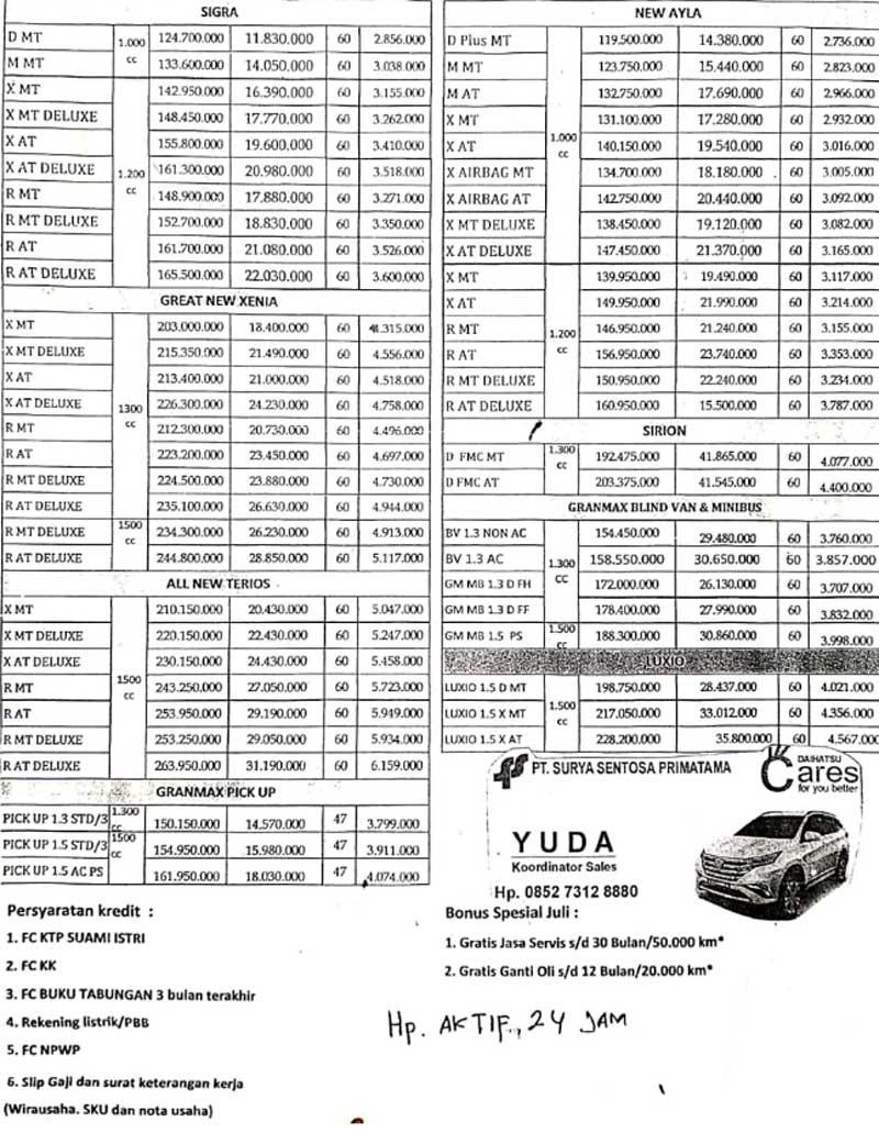 Promo Daihatsu Jambi Yuda